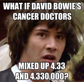 WHAT IF DAVID BOWIE'S CANCER DOCTORS