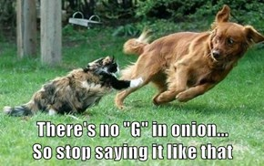 "There's no ""G"" in onion...               So stop saying it like that"