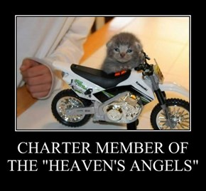 """CHARTER MEMBER OF THE """"HEAVEN'S ANGELS"""""""