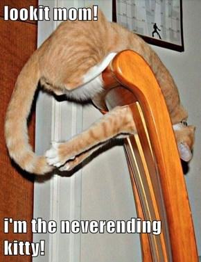 lookit mom!  i'm the neverending kitty!