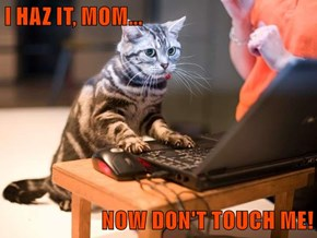 I HAZ IT, MOM...  NOW DON'T TOUCH ME!