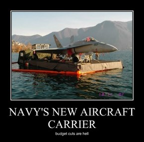 NAVY'S NEW AIRCRAFT CARRIER
