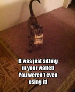 It was just sitting  in your wallet! You weren't even using it!