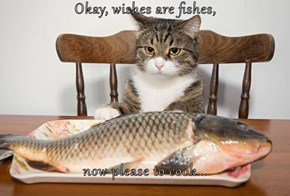 Okay, wishes are fishes,  now please to cook...