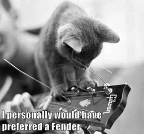 I personally would have                       preferred a Fender