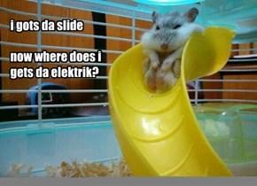 Pluffy wants to lurn da Elektrik Slide fur da Balentine's Danse
