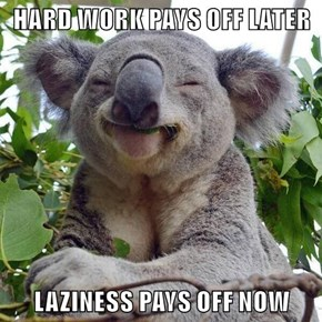 HARD WORK PAYS OFF LATER  LAZINESS PAYS OFF NOW