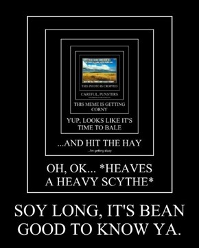 SOY LONG, IT'S BEAN GOOD TO KNOW YA.