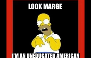 Look  Marge, I'm an uneducated American
