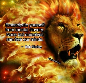 Emancipate yourself from mental slavery. None but ourselves can free our minds.