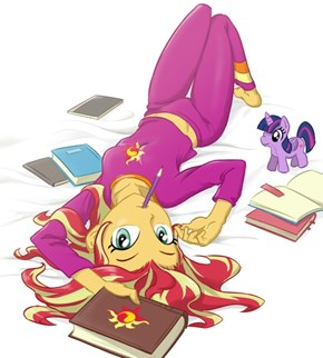 Sunset Shimmer Is in Your Bed