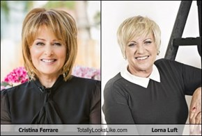Cristina Ferrare Totally Looks Like Lorna Luft