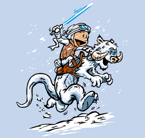This Calvin and Hobbes Meets Star Wars Fan Art Will Awaken Your Nostalgia