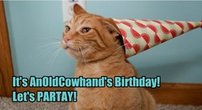 Everyone Sillybrate! Happy Birfday to our favorite Old Cowhand!!! He's a spring chicken!