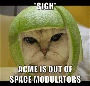 *SIGH*  ACME IS OUT OF                                SPACE MODULATORS