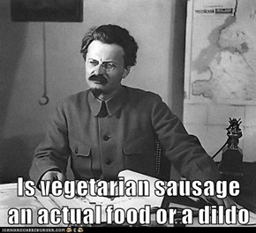 Is vegetarian sausage an actual food or a dildo