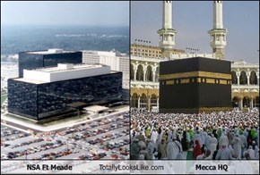 NSA Ft Meade Totally Looks Like Mecca HQ