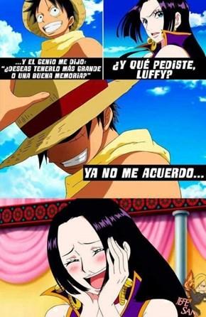Luffy es un loquillo