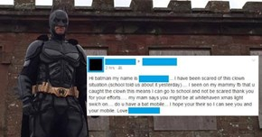 This Dude's Dressing up as Batman and Chasing Evil Clowns around to Help Traumatized Children