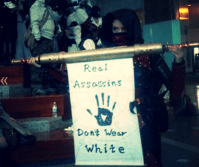 Real Assassins Don't Wear White Suite