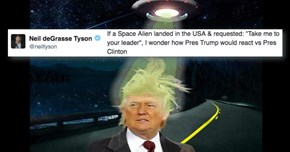 Neil deGrasse Tyson Asked a Legitimate Question About Trump/Clinton Meeting Aliens and the Quick J.K. Rowling Had the Best Answer