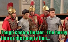 Tough choice Doctor...The horny lion or the hungry lion...