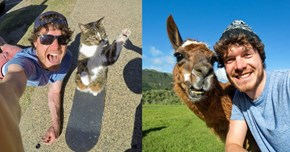 We're Super Jealous of This Self-Described Animal Whisperer Who Takes the Best Selfies