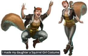 When Your Daughter is Nuts About Being a Marvel Superhero, You Make Her the Best Squirrel Girl Costume Ever