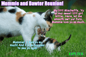 Rio LoLympics: Little Mischeffs greets her loving momma Missy in Rio!
