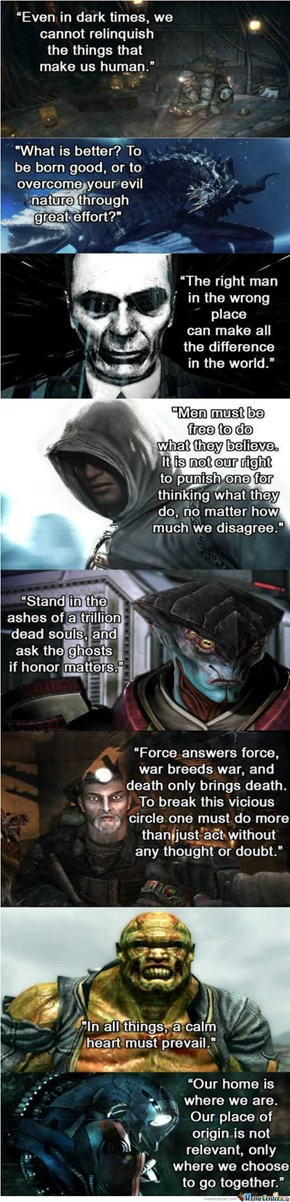 Some Solid Inspirational Video Game Quotes