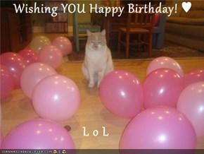Wishing YOU Happy Birthday! ♥                          L o L