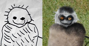 This Dad Turned His Kid's Drawings into Horrifying Photos