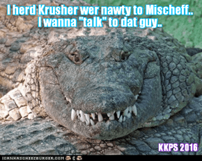 Rio LoLympics: Wiff teh worldwide uproar over Krusher's cheating and being so mean to littl Mischeffs in teh Box of Doom Event, more and more adversaries come forward wanting to teach dat Krusher a lesson hims will never forget!