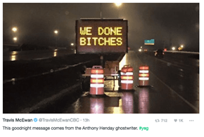 Clever Prankster Helps Announce the End of Road Construction