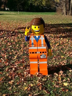 This Dad Made His Son One Epic LEGO Halloween Costume
