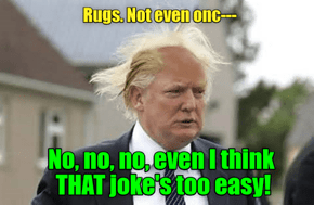 Well, he certainly didn't go bankrupt buying toupees...