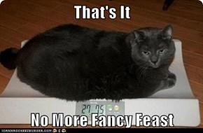 That's It  No More Fancy Feast