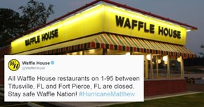 People in Florida Know Things Are Getting Rough When the Waffle Houses Start Closing