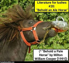 Literature for lushes #20: a book that will drive you to drink