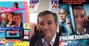 Ted Cruz Helped Make Photoshop Battles Great Again in This Picture Where He's Making Calls for Donald Trump