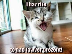 i haz rite   to hab lawyer prezent!