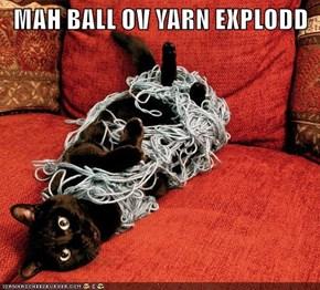 MAH BALL OV YARN EXPLODD