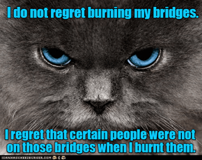 Burning Your Bridges