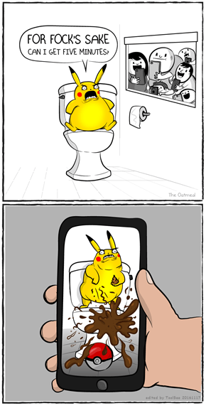 Pikachu in 2016 (by The Oatmeal)