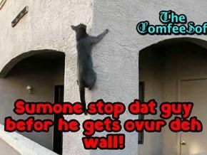 Get deh fyurmen out! Call deh Mounties! Protekt deh wyne!!