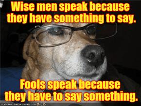 Wisdom Speaks