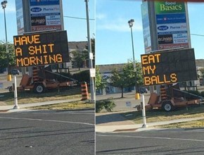 Wow, That Sign Needs to Chill