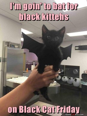 I'm goin' to bat for black kittehs