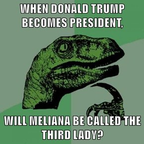 WHEN DONALD TRUMP BECOMES PRESIDENT,  WILL MELIANA BE CALLED THE THIRD LADY?