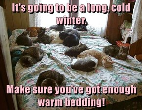 It's going to be a long, cold winter....